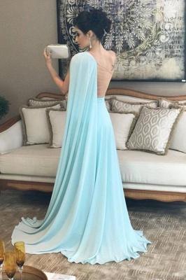 Sexy Ruffle Lace Appliques Oneshoulder Prom Dress UKes UK A-Line Over-Skirt Sleeveless Evening Dress UKes UK_3