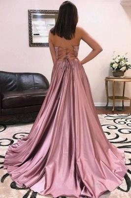 Charmeuse Halter Lace-Up Prom Dress UKes UK Side slit Sleeveless Evening Dress UKes UK_2