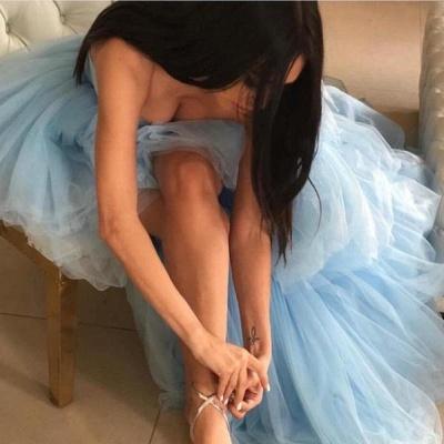 Sweetheart Overskirt Tired Prom Dress UKes UK Hi-Lo Sheer Sleeveless Evening Dress UKes UK_3