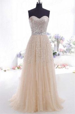 Sexy Sweetheart Sequins Pink Prom Dress UKes UK Sleeveless Open Back Crystal Evening Dress UKes UK_1