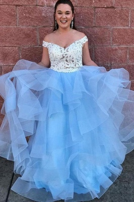 Sexy Lace Appliques Off-the-Shoulder Prom Dress UKes UK Two Piece Sheer Sleeveless Evening Dress UKes UK_2
