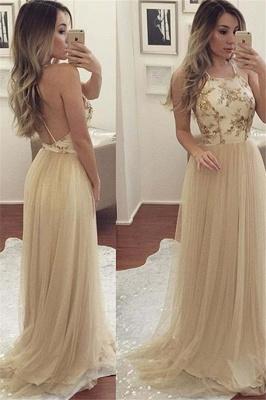 Sexy Halter Applique Open Back Prom Dress UKes UK Sleeveless Elegant Evening Dress UKes UK with Crystal_2