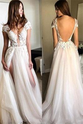Sexy Pink Elegant V-Neck Prom Dress UKes UK Sleeveless Elegant Evening Dress UKes UK with Beads_2