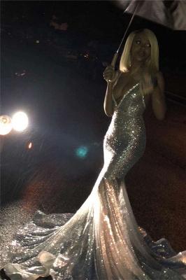 Spaghettistraps Sequins Sleeveless Prom Dress UKes UK Mermaid Open Back Evening Dress UKes UK_4