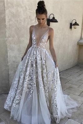 Lace Appliques Spaghetti-Strap Prom Dress UKes UK Sheer Sexy Sleeveless Evening Dress UKes UK_1