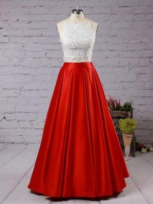 Lace Appliques Prom Dress UKes UK Side slit Mermaid Sleeveless Evening Dress UKes UK_2