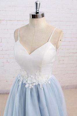Sexy Spaghetti-Strap Lace Appliques Prom Dress UKes UK A-Line Sleeveless Evening Dress UKes UK_2