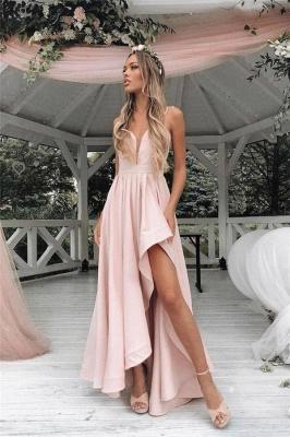 Sexy Straps Prom Dress UKes UK Side slit A-Line Sleeveless Evening Dress UKes UK_1