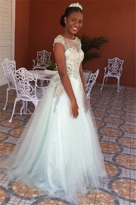 Princess Jewel Lace Appliques Prom Dress UKes UK Sleeveless Tulle Evening Dress UKes UK with Beads_1