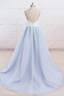 Sexy Spaghetti-Strap Lace Appliques Prom Dress UKes UK A-Line Sleeveless Evening Dress UKes UK_3