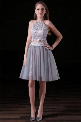 Sexy Halter Lace Appliques Homecoming Dress UKes UK Two Piece Lace-Up Sleeveless Short Party Dress UKes UK_1