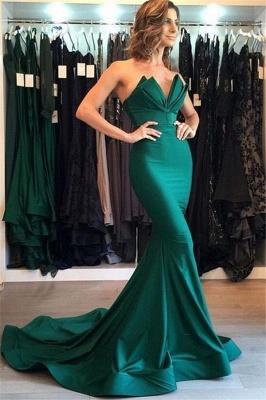 Green Sweetheart Bow-knot Prom Dress UKes UK Sleeveless Mermaid Ruffles Elegant Evening Dress UKes UK_1