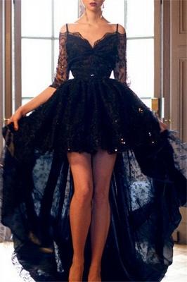 Red Spaghetti Strap Lace Up Prom Dress UKes UK Tulle Sleeveless  Side Slit Evening Dress UKes UK Sexy_3