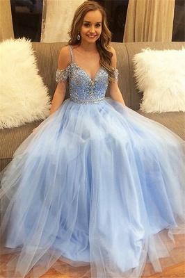 Fashion Spaghetti strap Lace Appliques Crystal Prom Dress UKes UK Sleeveless Evening Dress UKes UK with Beads_2
