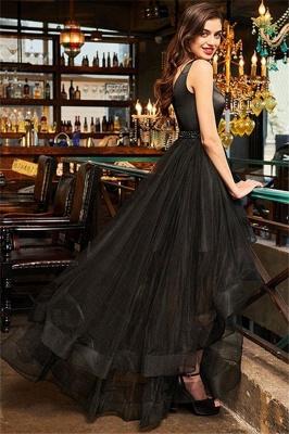 Black Elegant V-Neck Ruffles Crystal Prom Dress UKes UK Hi-Lo Open Back Sleeveless Elegant Evening Dress UKes UK_3