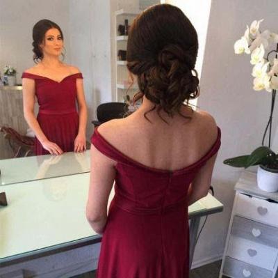 Ruffles Off-the-Shoulder Prom Dress UKes UK Simple Sleeveless Evening Dress UKes UK_3