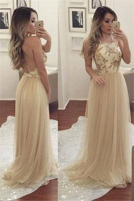Sexy Halter Sequins Lace Appliques Prom Dress UKes UK Backless Sheer Sleeveless Evening Dress UKes UK_1