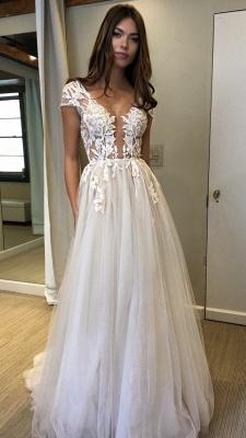 Elegant V-Neck Lace Appliques Prom Dress UKes UK Sheer Sleeveless Evening Dress UKes UK_3