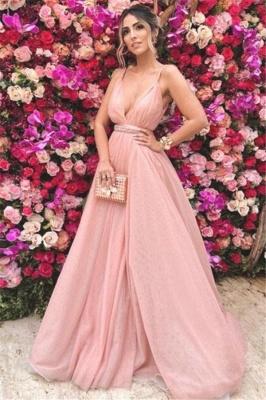 Sexy Spaghetti Strap Beads Open Back Prom Dress UKes UK Sleeveless Tulle Elegant Evening Dress UKes UK with Sash_1