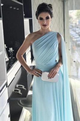 Sexy Ruffle Lace Appliques Oneshoulder Prom Dress UKes UK A-Line Over-Skirt Sleeveless Evening Dress UKes UK_2