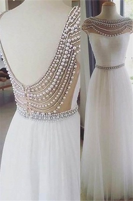 Sexy Jewel Beads Open Back Prom Dress UKes UK Sleeveless Tulle Evening Dress UKes UK with Sash_2
