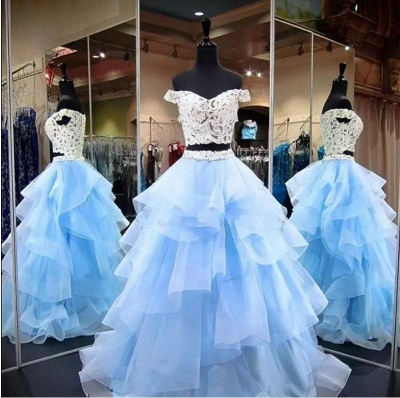 Sexy Lace Appliques Off-the-Shoulder Prom Dress UKes UK Two Piece Sheer Sleeveless Evening Dress UKes UK_3