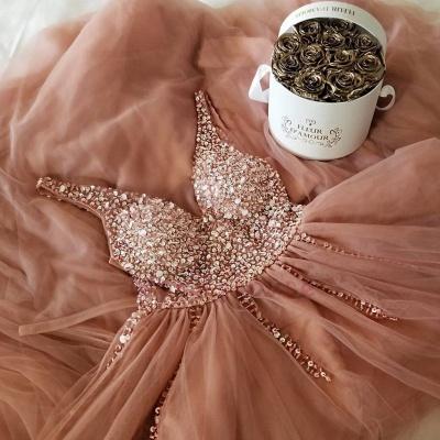 Crystal Straps Sequin Prom Dress UKes UK Lace-Up Side slit Mermaid Sleeveless Evening Dress UKes UK_2