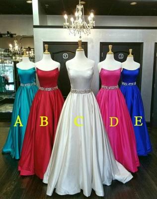 Lace Appliques Sequin Strapless Prom Dress UKes UK Sleeveless Evening Dress UKes UK Sexy_2