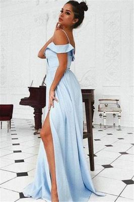Sexy Off-the-Shoulder Ruffle Prom Dress UKes UK Side slit A-Line Sleeveless Evening Dress UKes UK_2