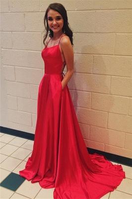 Sexy Red Halter Lace-Up Prom Dress UKes UK Sleeveless Evening Dress UKes UK with Pocket_1
