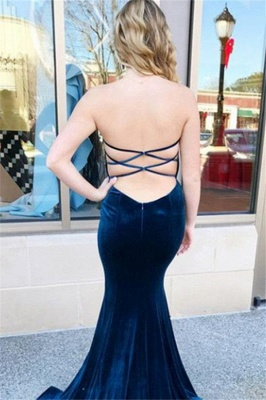Sweetheart Lace Up Prom Dress UKes UK Sleeveless Mermaid Ruffles Elegant Evening Dress UKes UK_2