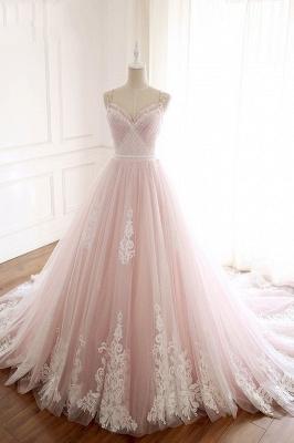 Sexy Spaghetti-Strap Flower Lace Appliques Prom Dress UKes UK Ball Gown Ruffle Crystal Sleeveless Evening Dress UKes UK_12