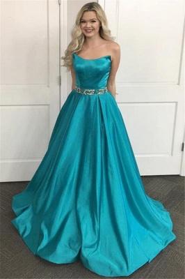 Lace Appliques Sequin Strapless Prom Dress UKes UK Sleeveless Evening Dress UKes UK Sexy_1