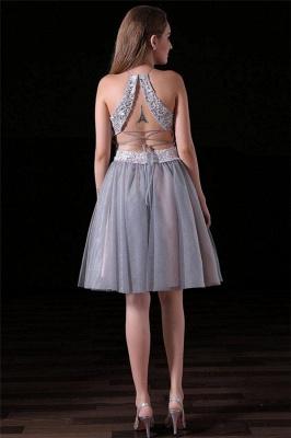 Sexy Halter Lace Appliques Homecoming Dress UKes UK Two Piece Lace-Up Sleeveless Short Party Dress UKes UK_2