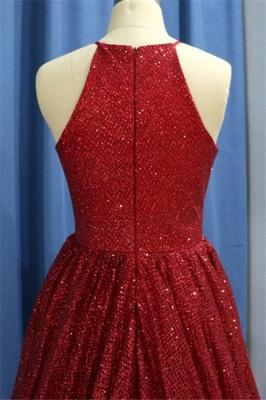Sexy Sequins Ruffles Halter Prom Dress UKes UK Sleeveless Elegant Evening Dress UKes UK with Beads_3