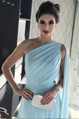 Sexy Ruffle Lace Appliques Oneshoulder Prom Dress UKes UK A-Line Over-Skirt Sleeveless Evening Dress UKes UK_4