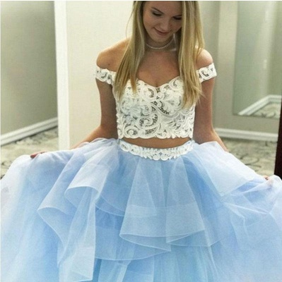 Sexy Lace Appliques Off-the-Shoulder Prom Dress UKes UK Two Piece Sheer Sleeveless Evening Dress UKes UK_4