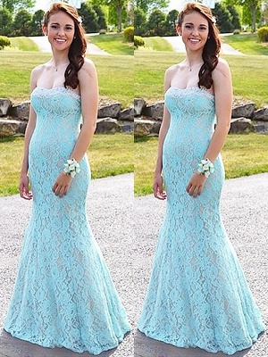 Sexy Sweetheart Lace Crystal Prom Dress UKes UK Sleeveless Mermaid Evening Dress UKes UK Sexy_2