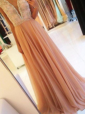 Sexy Open Back Lace Appliques Prom Dress UKes UK Tulle Sexy Evening Dress UKes UK with Crystal_3