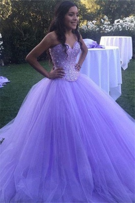 Sexy Crystal Sweetheart Applique Prom Dress UKes UK Ball Gown Sleeveless Elegant Evening Dress UKes UK_1