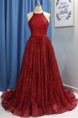 Sexy Sequins Ruffles Halter Prom Dress UKes UK Sleeveless Elegant Evening Dress UKes UK with Beads_2