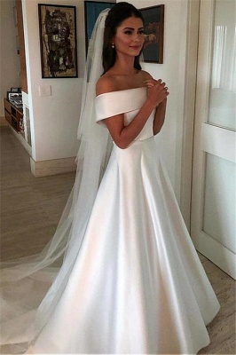 Elegant Off-the-Shoulder Wedding Dresses UK Bowknot Ribbons Sleeveless Floral Bridal Gowns
