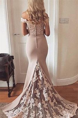Lace Off-the-Shoulder Prom Dress UKes UK Sexy Mermaid Elegant Evening Dress UKes UK_2