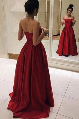 Red Sweetheart Ruffles Prom Dress UKes UK Sleeveless Ball Gown Elegant Evening Dress UKes UK Sexy_1