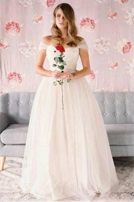 Sexy Off-The-Shoulder Prom Dress UKes UK Ruffle Tulle Sleeveless Evening Dress UKes UK_1