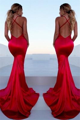Sexy Red Halter Lace Up Prom Dress UKes UK Sleeveless Ruffles Mermaid Side Slit Elegant Evening Dress UKes UK_2