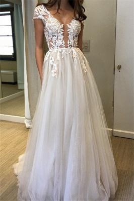 Elegant V-Neck Lace Appliques Prom Dress UKes UK Sheer Sleeveless Evening Dress UKes UK_1