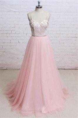 Sexy Lace Appliques Spaghetti-Strap  Prom Dress UKes UK Sheer Backless Bowknot Sleeveless Evening Dress UKes UK_1