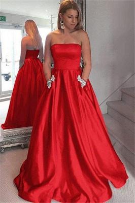 Strapless Beads Ruffles Prom Dress UKes UK Sleeveless Elegant Evening Dress UKes UK with Pocket_3