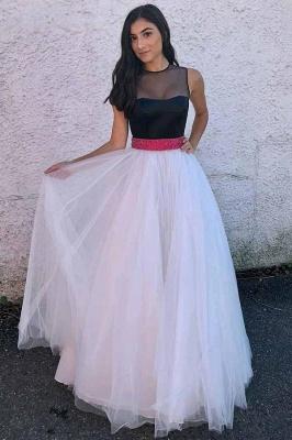 Sexy Sheer Jewel Ribbon Beads Prom Dress UKes UK Sleeveless Evening Dress UKes UK with Bowknot_1